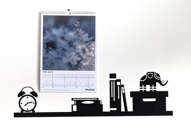 Fali naptár, 12+1 lapos nagyképes (A3)