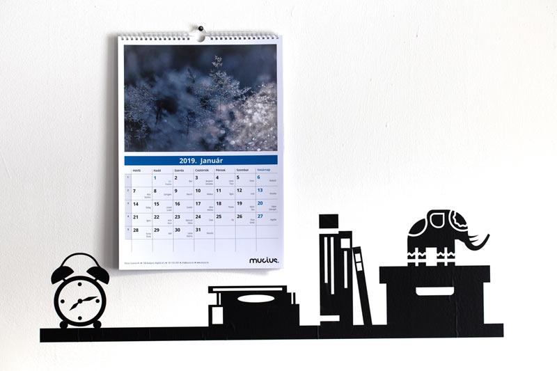 Fali naptár, 12+1 lapos (A3)