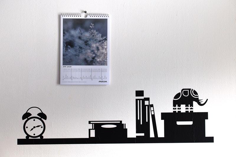 Fali naptár, 12+1 lapos nagyképes (A4)