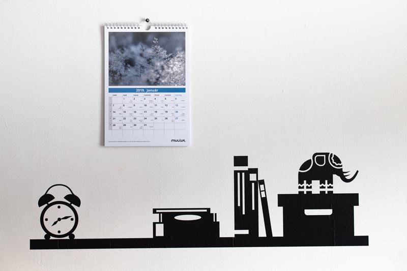 Fali naptár, 12+1 lapos (A4)